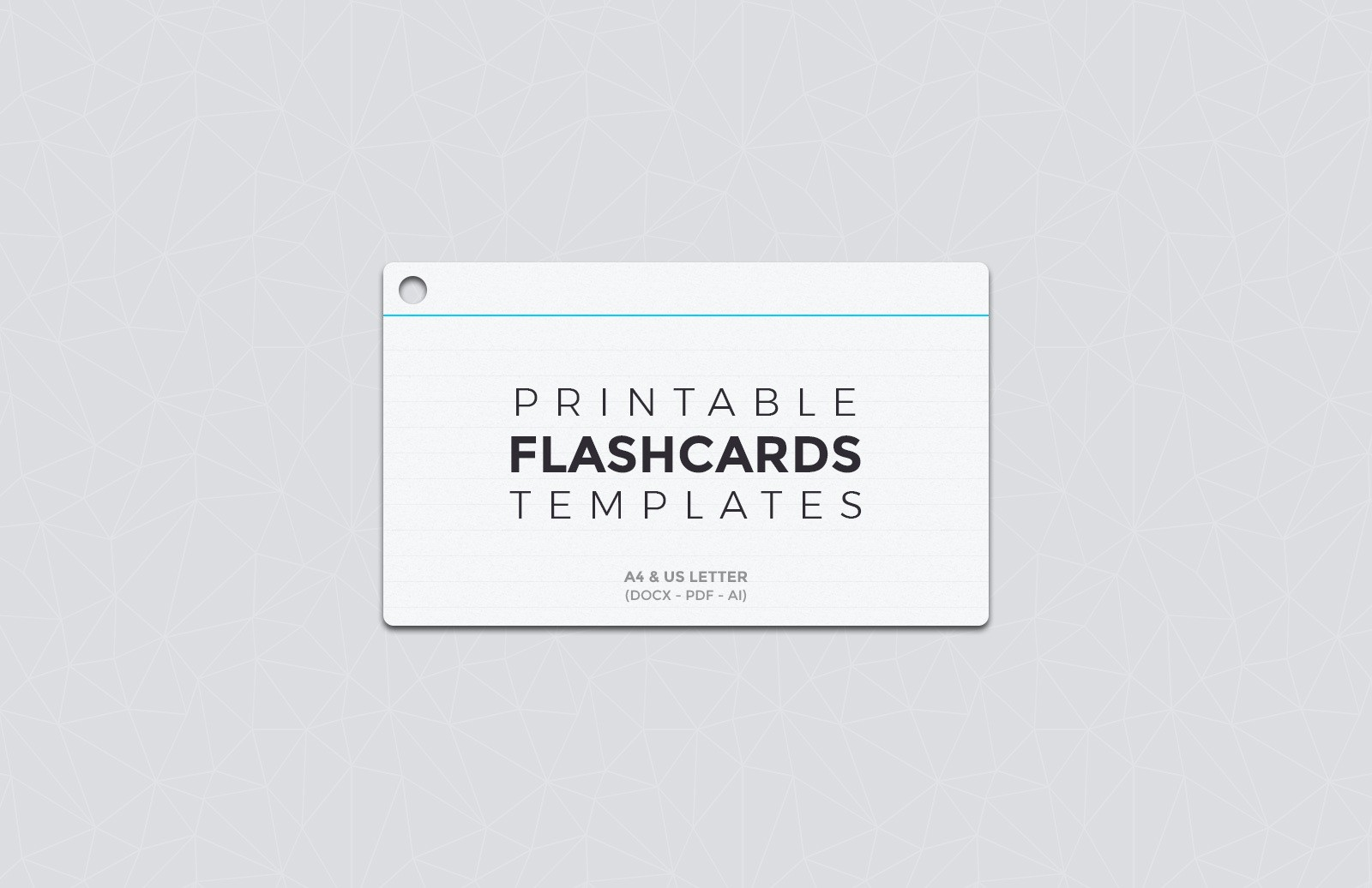 Free Printable Flashcard Templates Medialoot - Flashcard template free