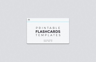 Clean image with regard to printable flashcard template