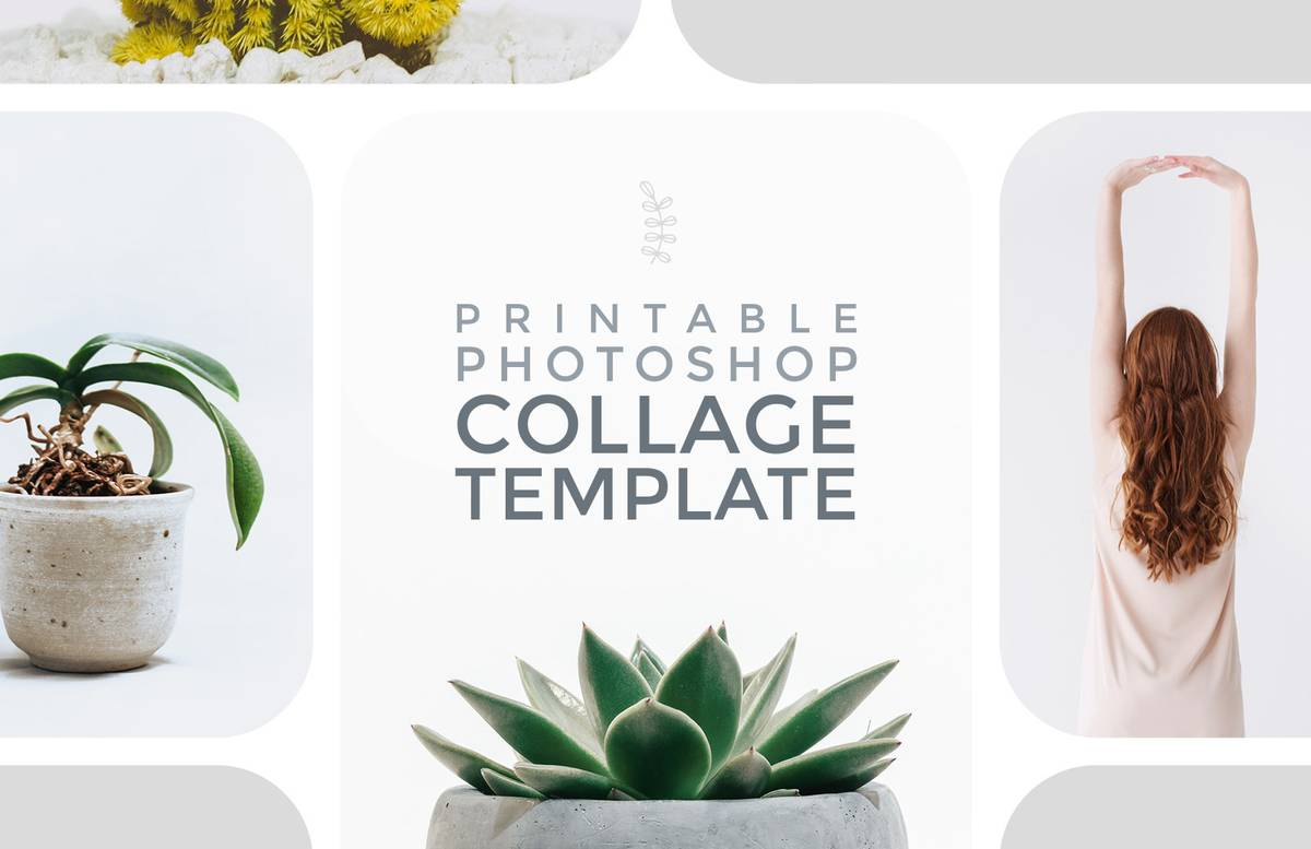 Printable Photoshop Collage Template Preview 1