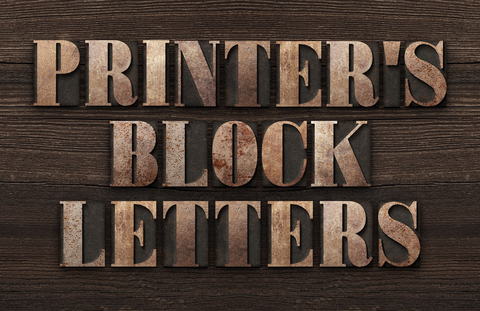 Printer's Letterpress Block Letters