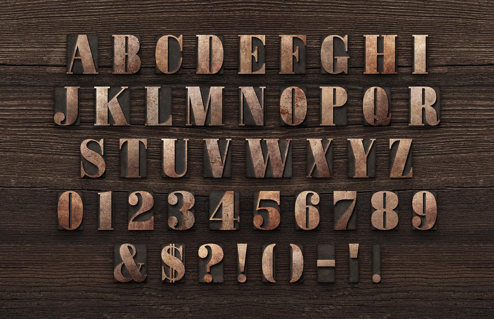 Large Printers Letterpress Block Letters Preview 4