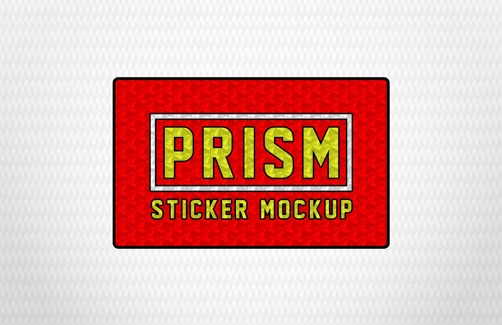 Free Prism Sticker Effect Mockup