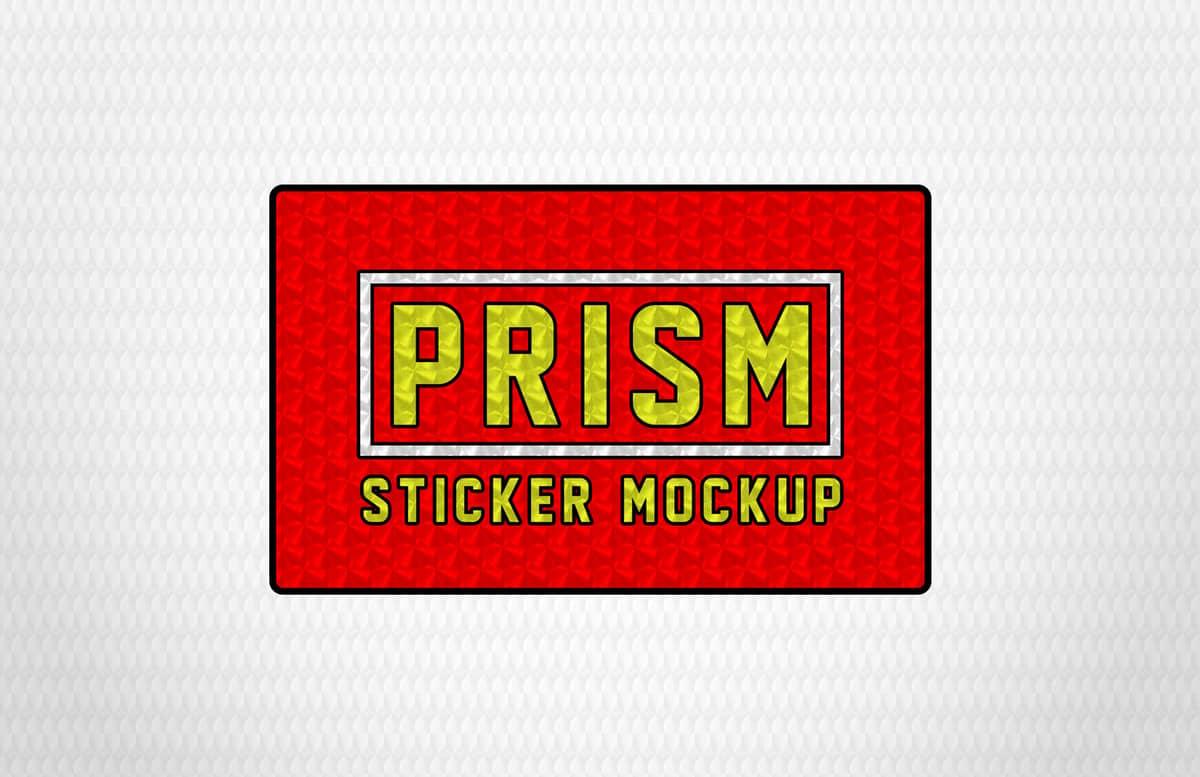 Prism Sticker Mockup Preview 1
