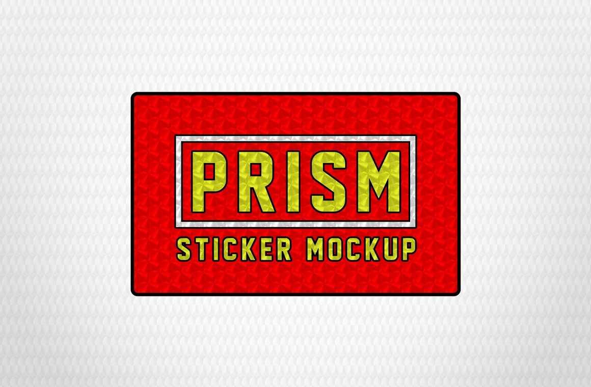 Free Prism Sticker Effect Mockup