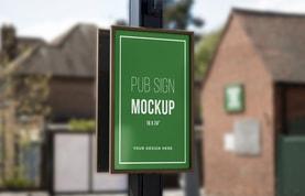 Pub Sign Mockup