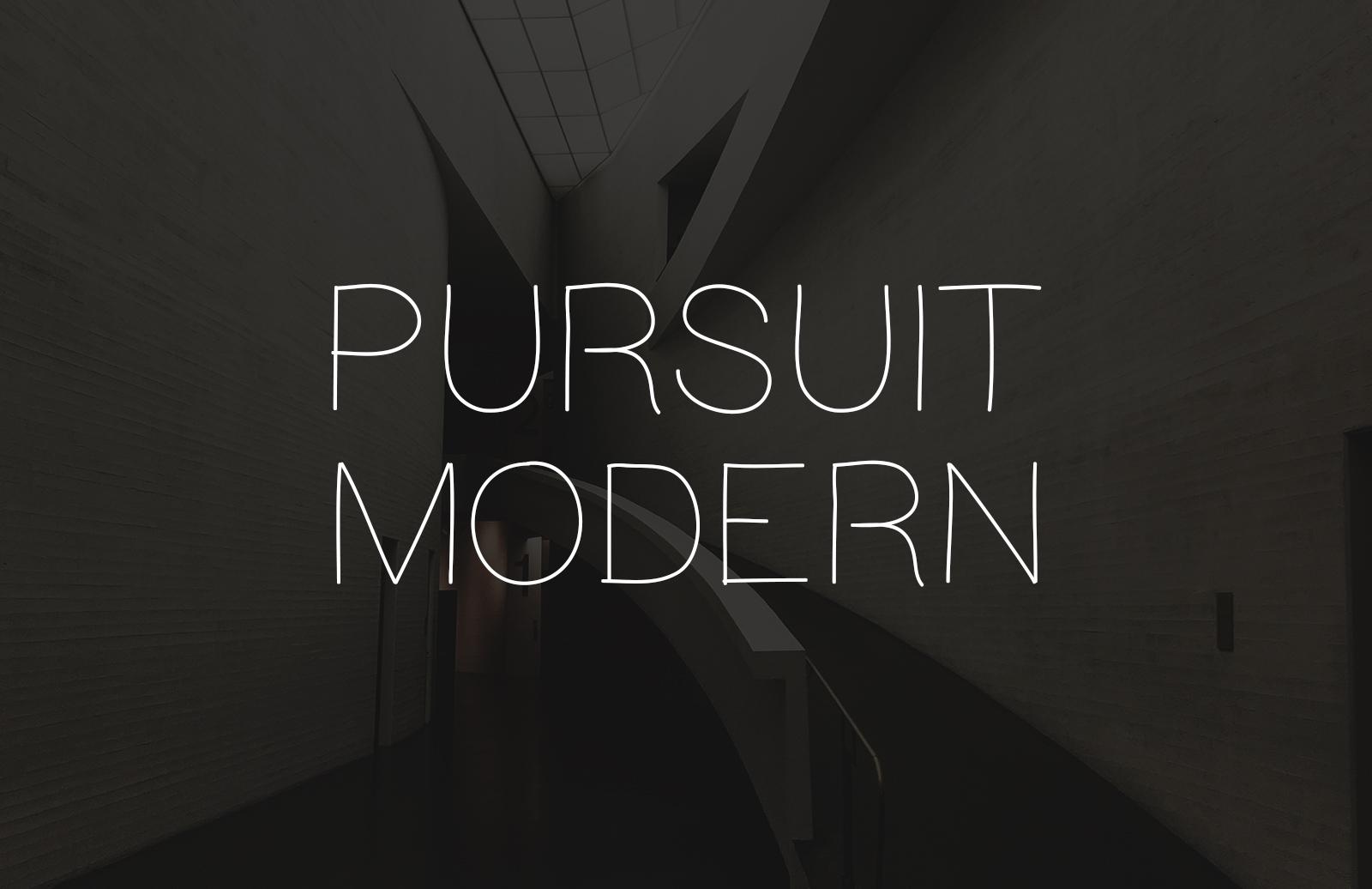Pursuit Modern - Light Hand Drawn Font 1