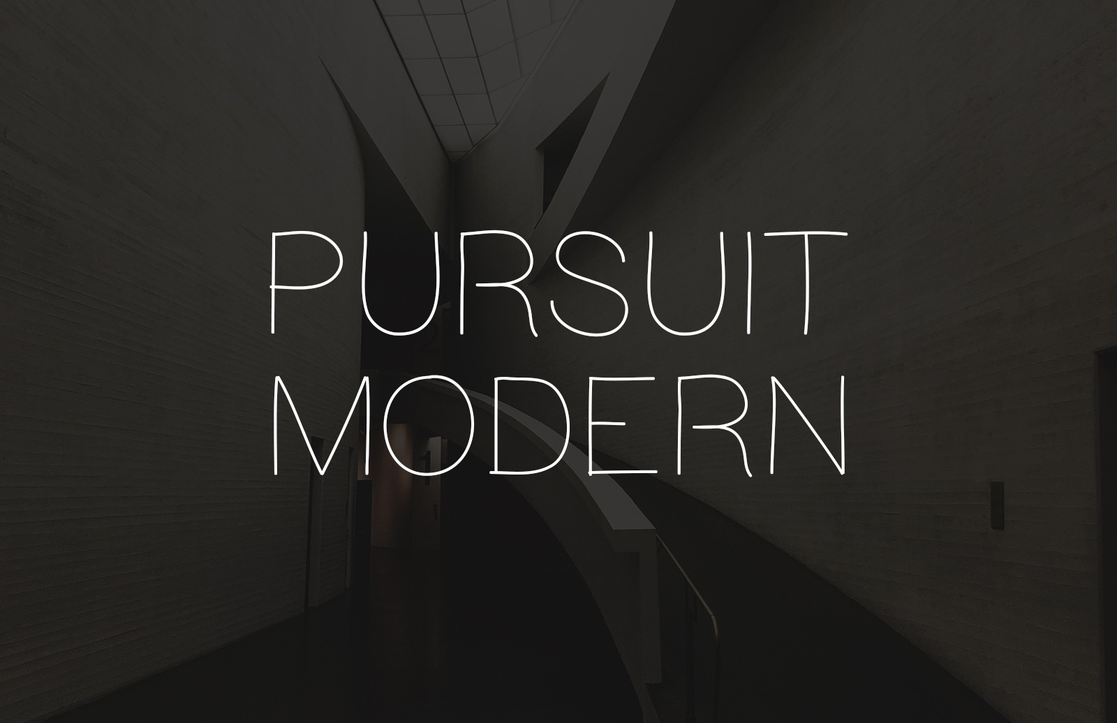 Pursuit Modern - Light Hand Drawn Font