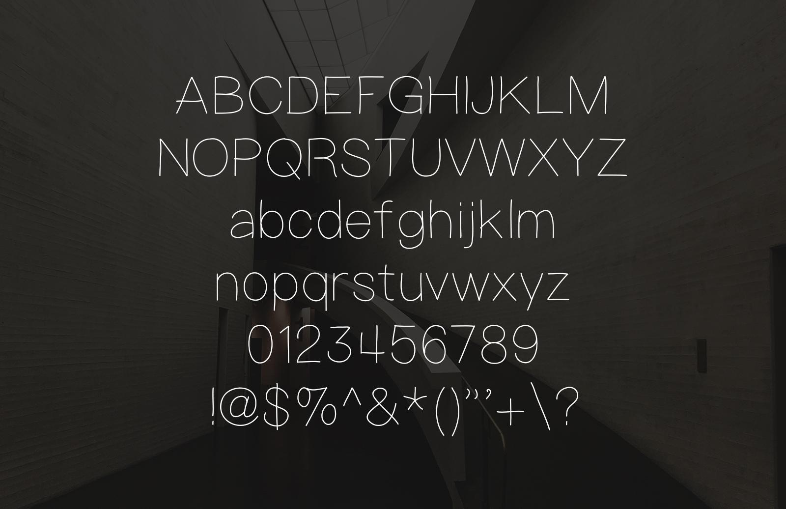 Pursuit Modern - Light Hand Drawn Font 2