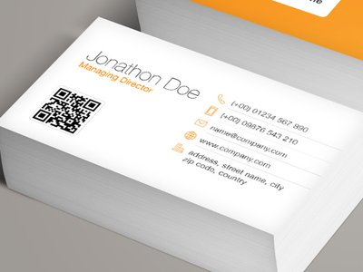 Qr code business card template vol 2 medialoot qr code business card template qr code business card template reheart Images