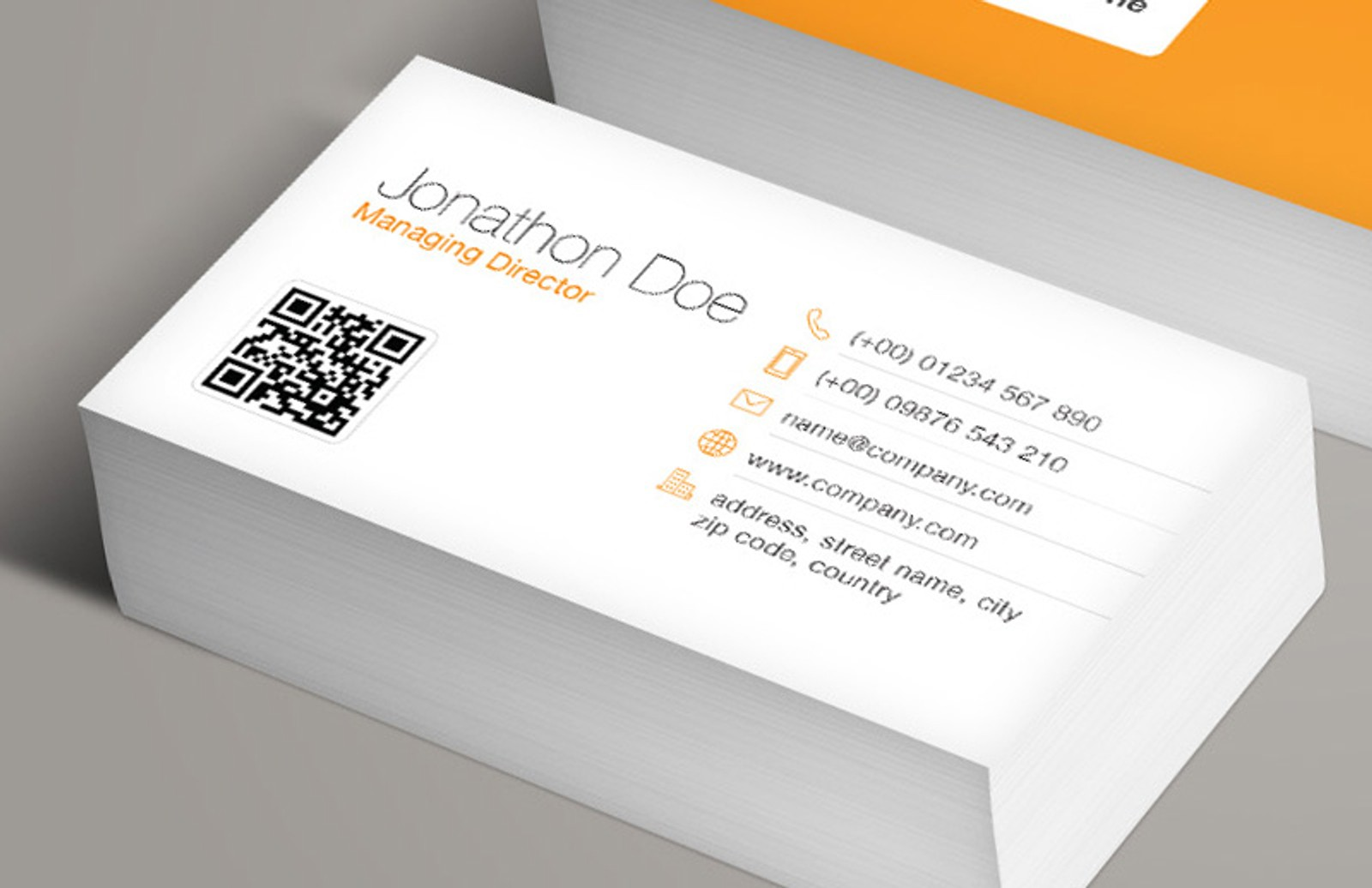 Famous How To Add Qr Code To Business Card Ideas Business Card - Business card with qr code template