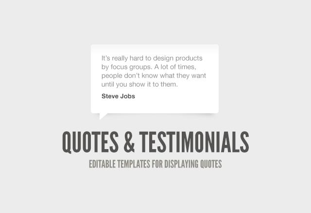 Quote & Testimonial Boxes