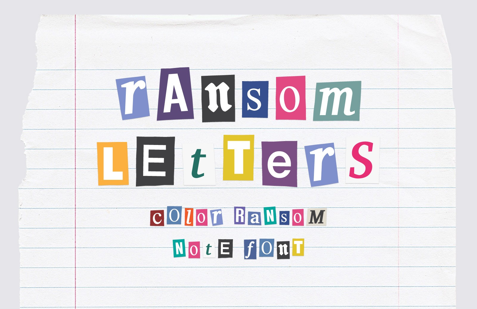 Ransom Letters Color Font Preview 1A