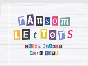 Ransom Letters - Color Ransom Note Font 1