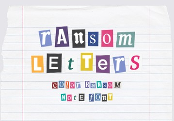 Ransom Letters - Color Ransom Note Font