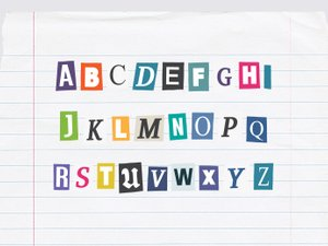 Ransom Letters - Color Ransom Note Font 2