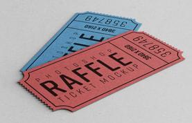 Raffle Ticket Mockup