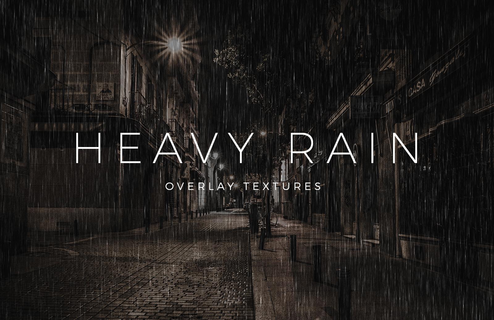 Heavy Rain Overlay Textures