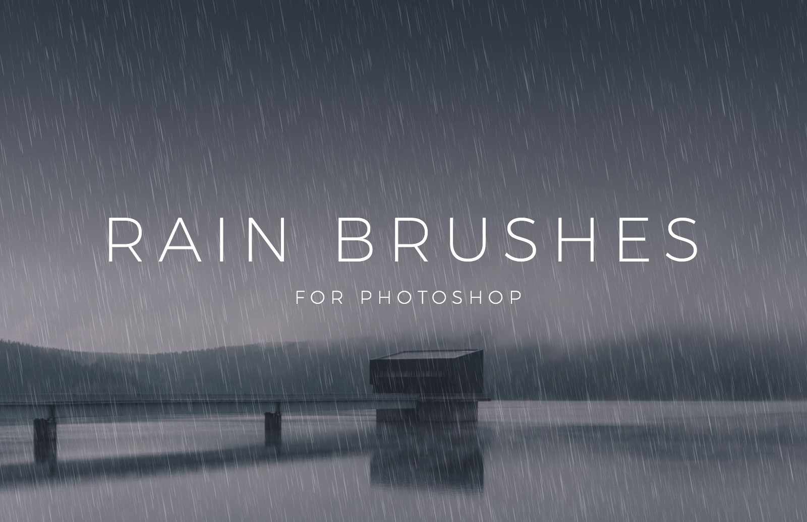 Rain Brushes for Photoshop