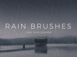 Rain Brushes for Photoshop 1