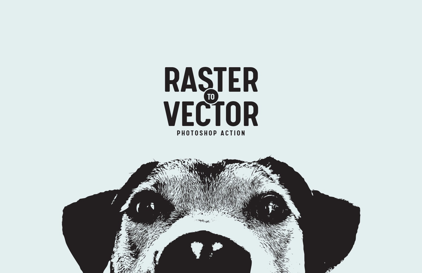 Raster to Vector Photoshop Action