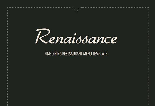 Renaissance Fine Dining Menu