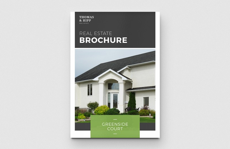 Real estate brochure template medialoot for Real estate brochures templates free