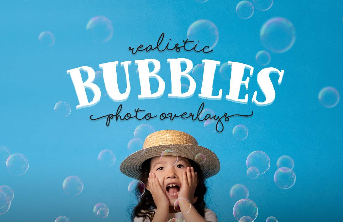 Realistic Bubbles Photo Overlays Preview 1