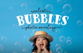 Realistic Bubbles Photo Overlays