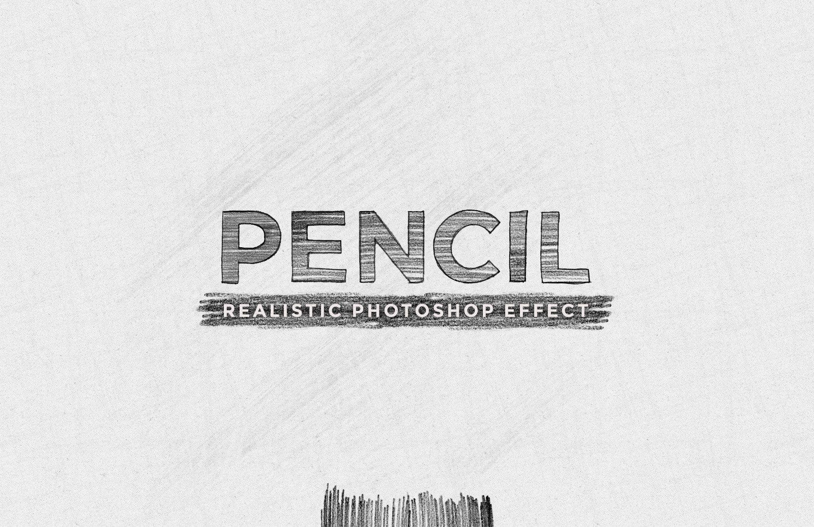 Realistic Pencil Drawing Effect 1