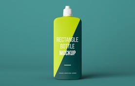 Rectangle Bottle Mockup