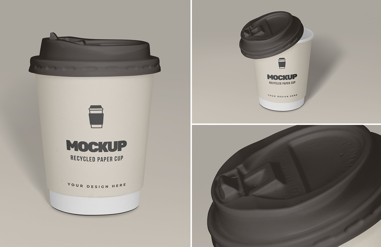 Recycled Paper Cup Mockup Preview 1A