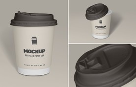 Recycled Paper Cup Mockup
