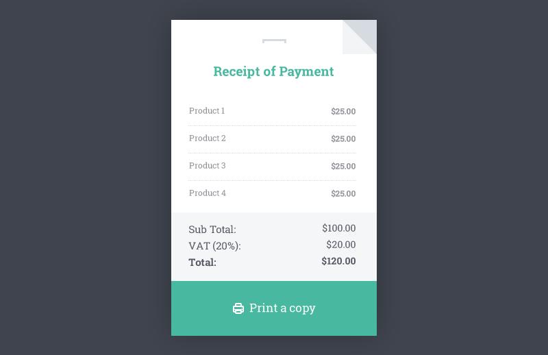 download html receipt template | rabitah, Invoice templates