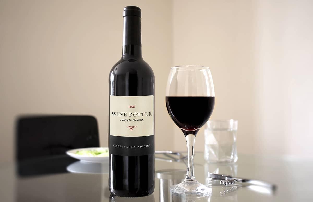 Red  Wine  Bottle  Scene  Mockup  Preview 1