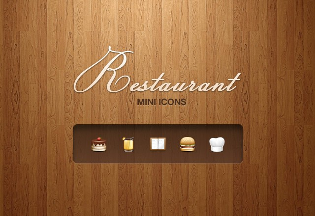 Restaurant Mini Icons