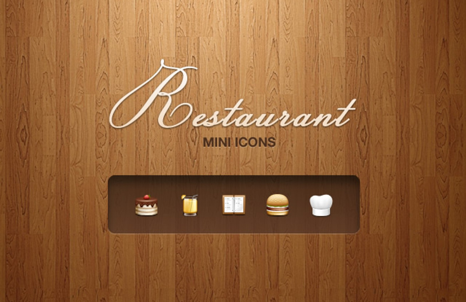 Restaurant  Mini  Icons  Preview1