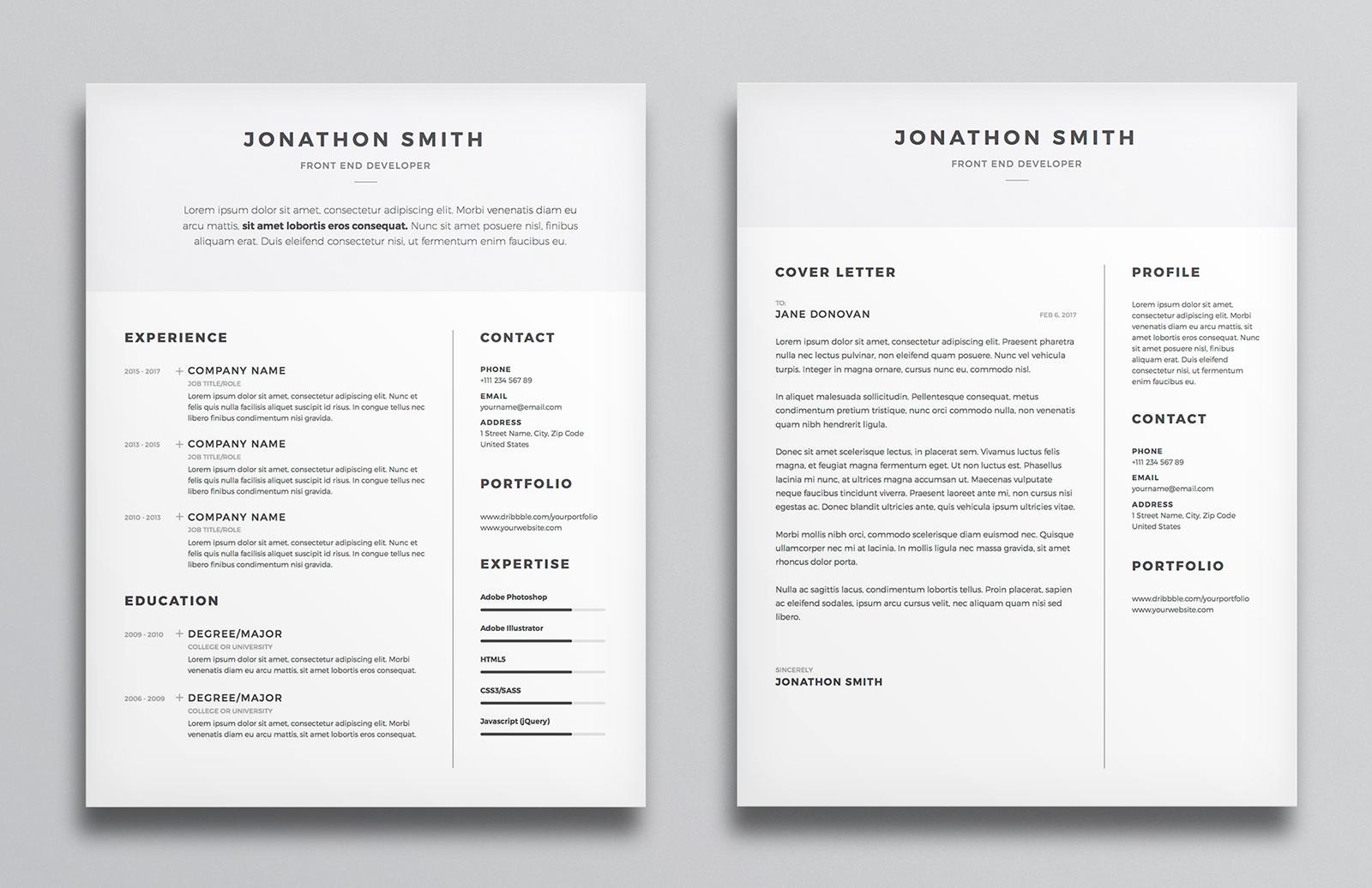Resume Cv Template Preview 2A