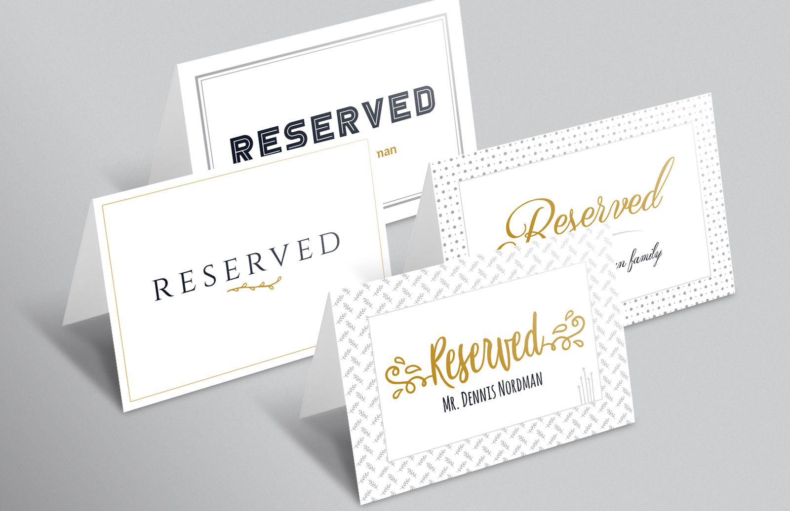Reserved Sign Template Preview 1
