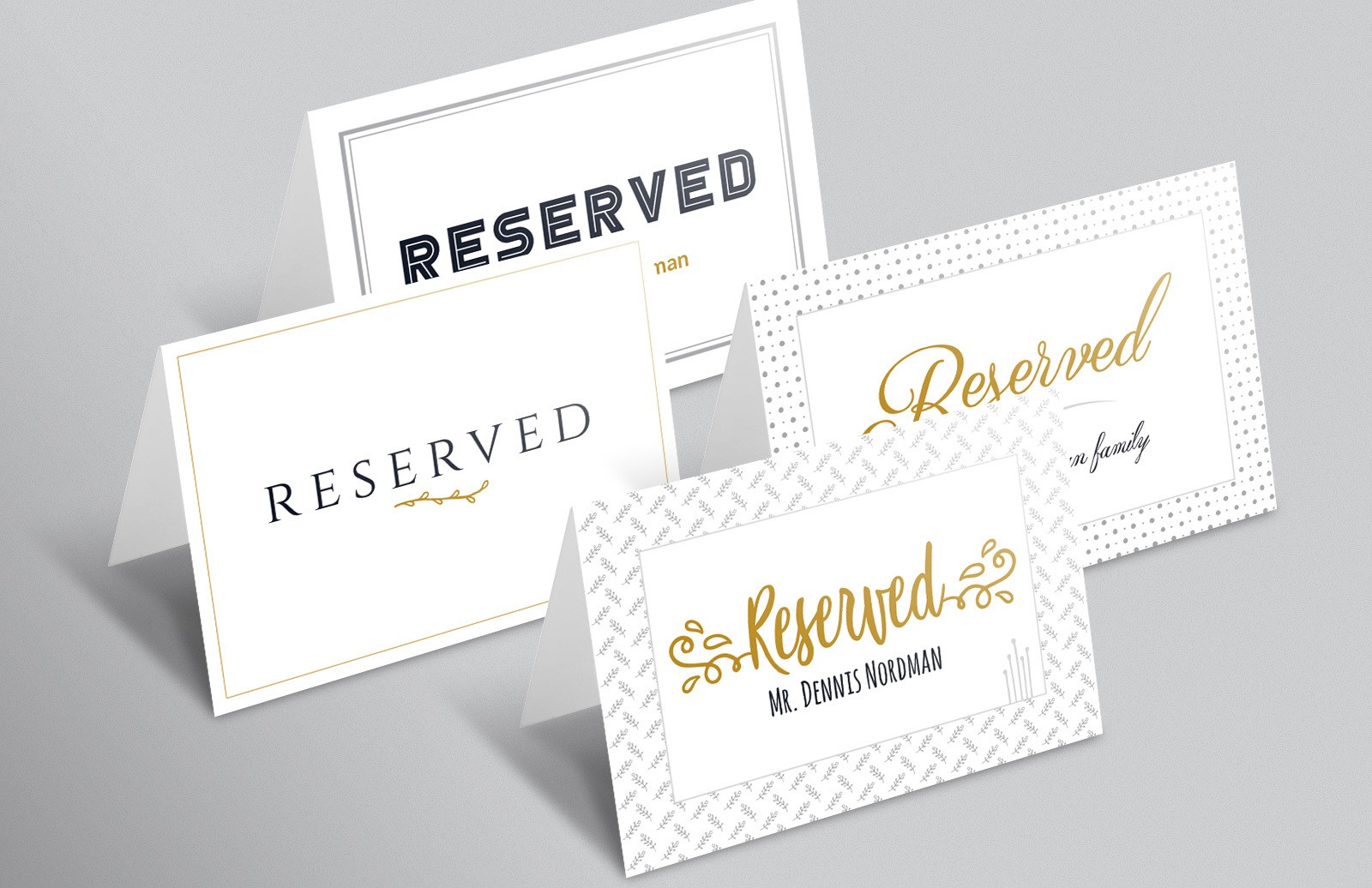 Reserved Sign Template  (AI, Word)