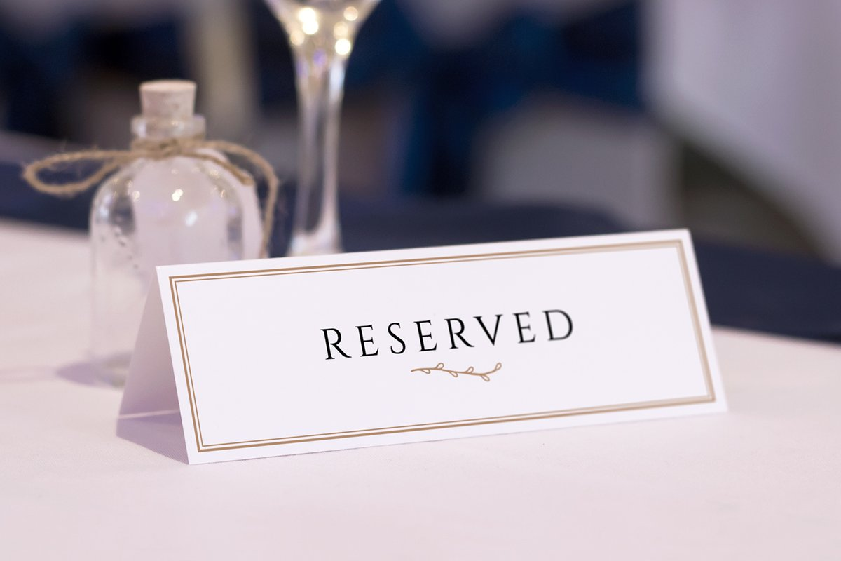 Reserved Table Card Mockups Medialoot