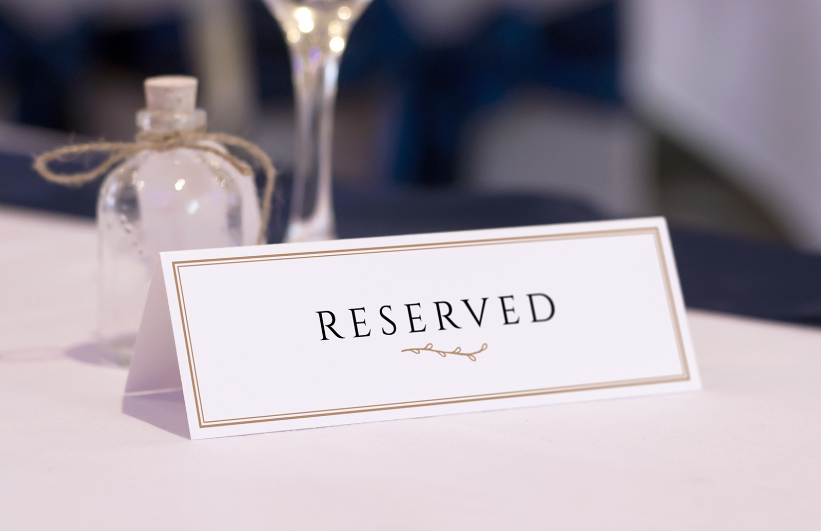 Reserved Table Card Mockups