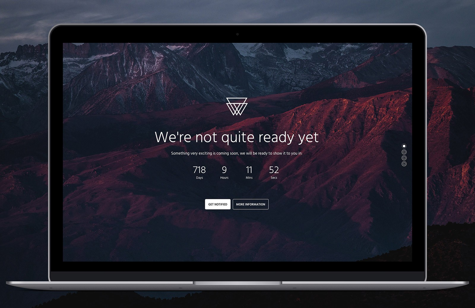 Responsive Bootstrap 4 Coming Soon Template 1