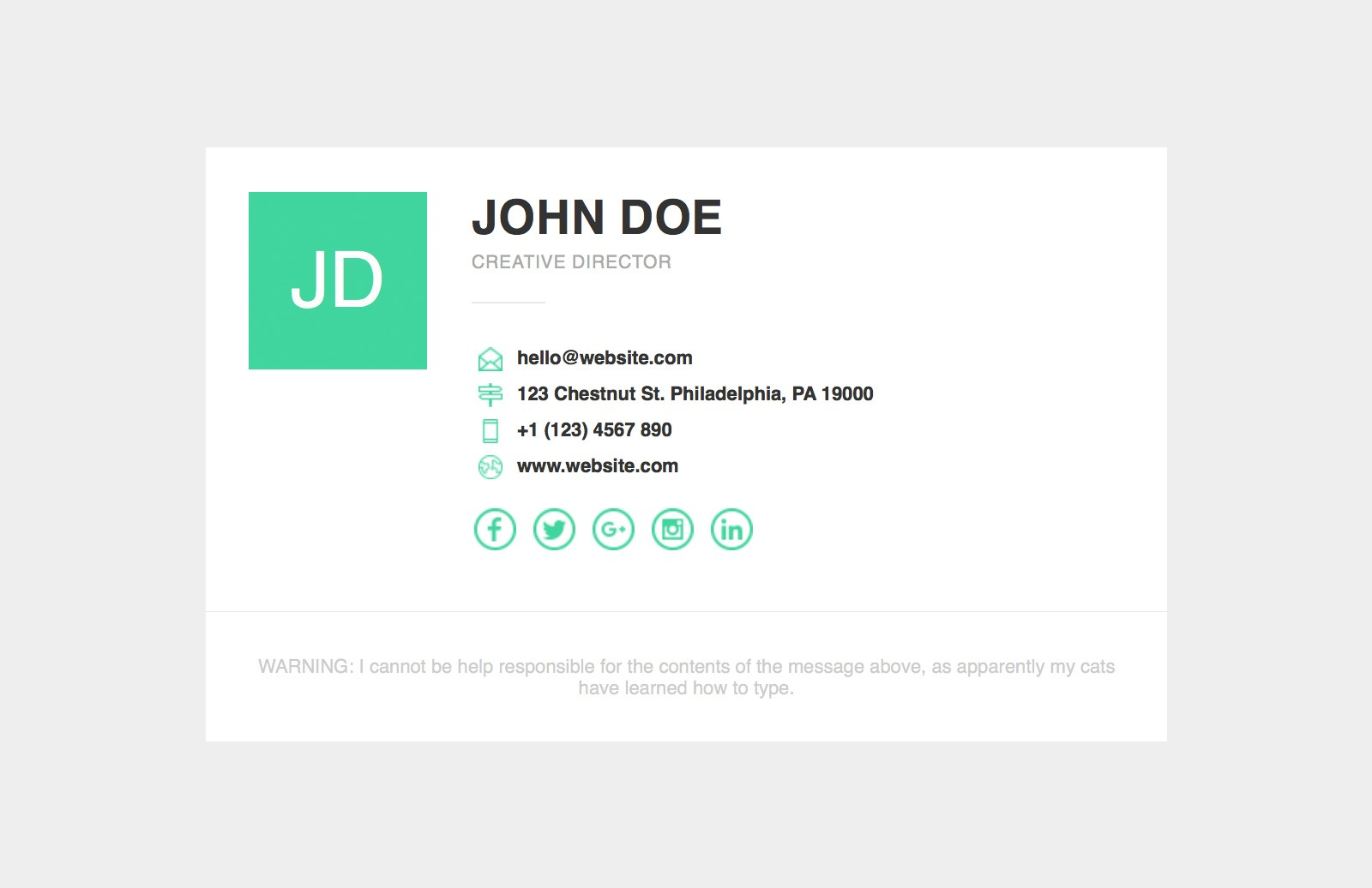 Responsive Email Signature Template 2
