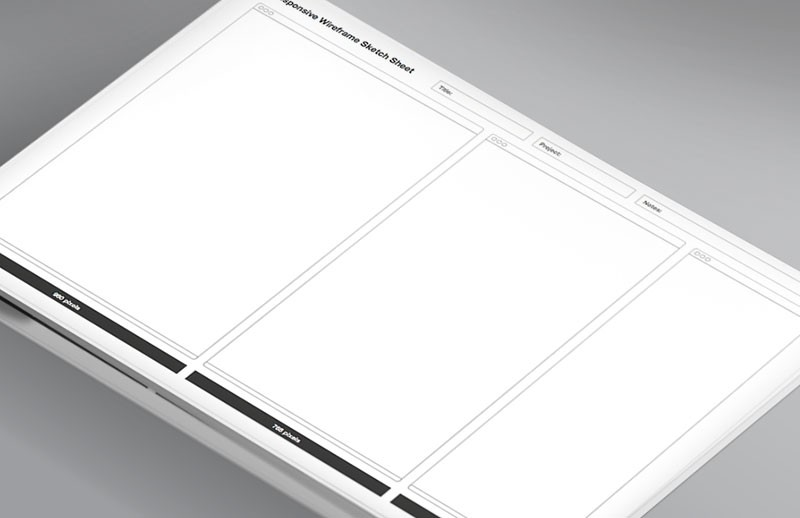 Print-ready Responsive Wireframe Sketch Sheet