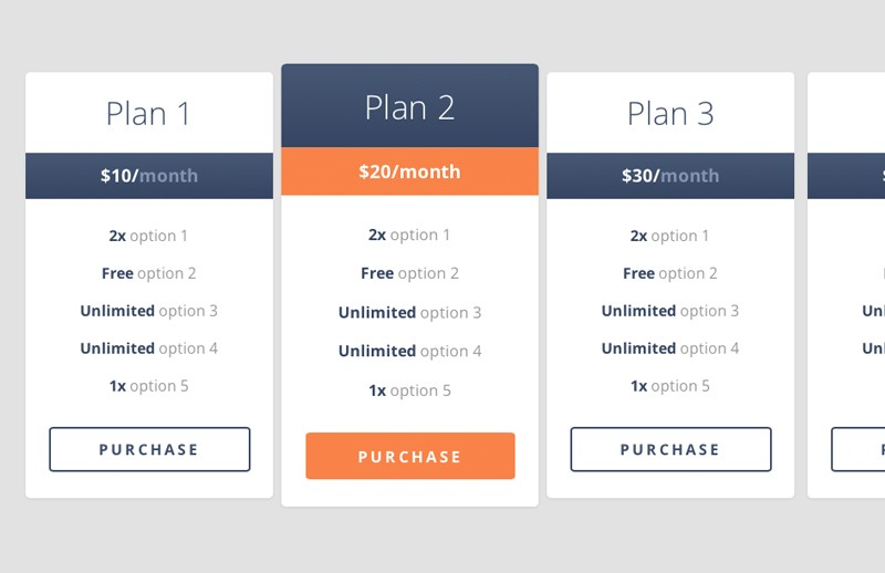 Free Coded Responsive Pricing Table