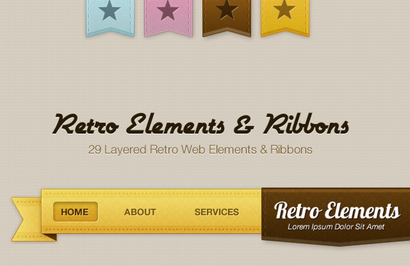 Retro  Elements  Preview 1
