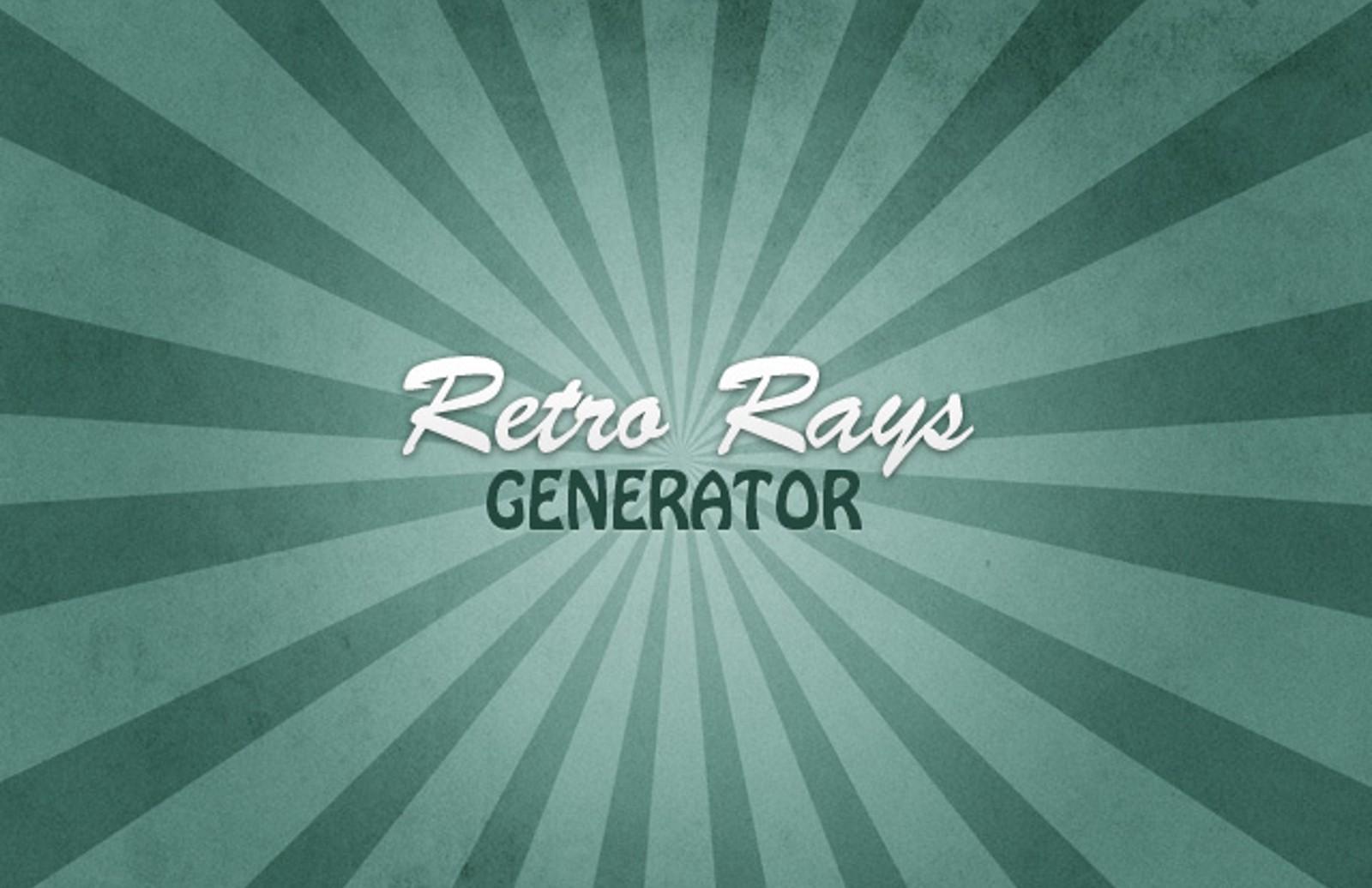 Retro  Rays  Generator  Preview1