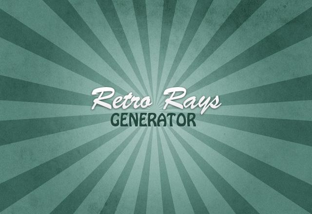 Retro Rays Generator