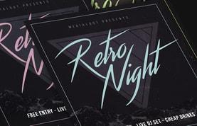 Retrowave 80s Party Flyer