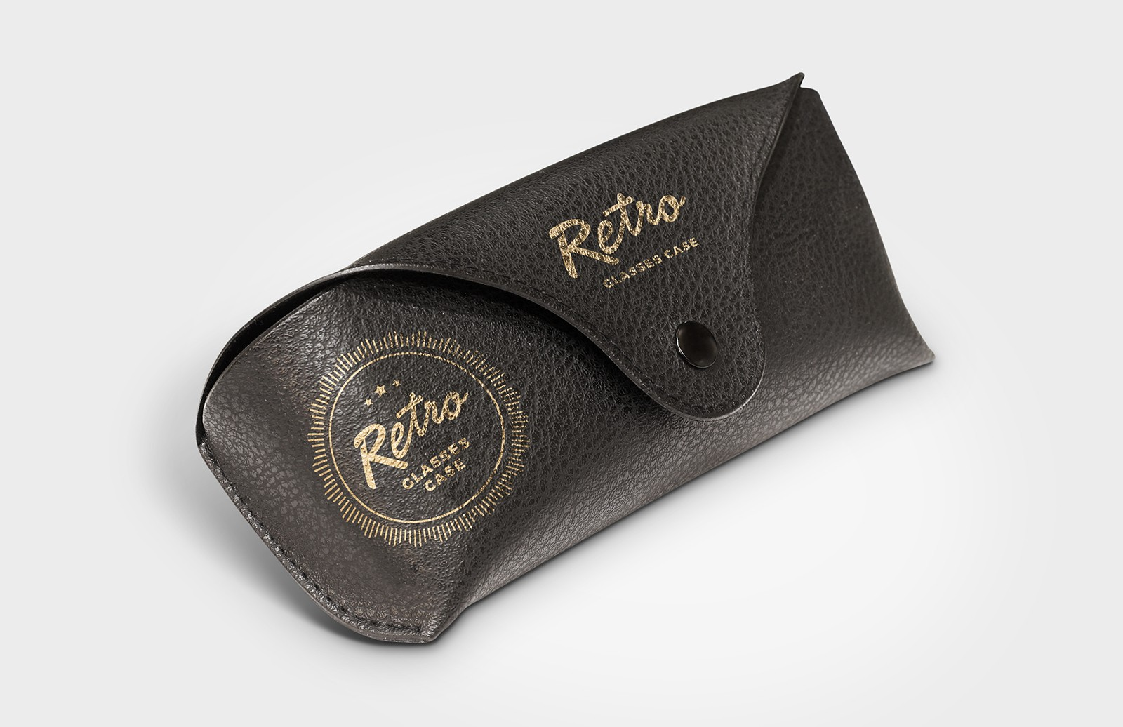 Retro Glasses Case Mockup for Photoshop